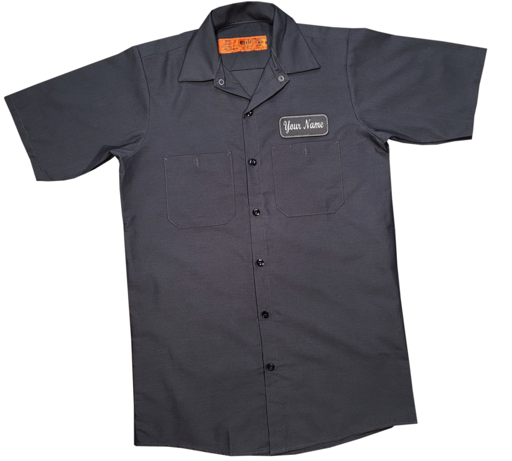 Uniform Workshirt with Custom Embroidered Name Patch