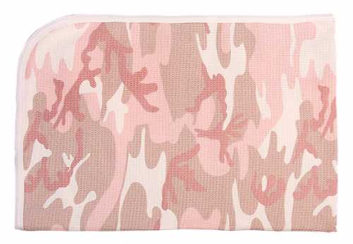 Camouflage Receiving Blanket in Pink Camo - NS144