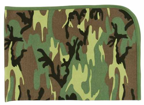 Camouflage Receiving Blanket in Woodland Camo - NS143