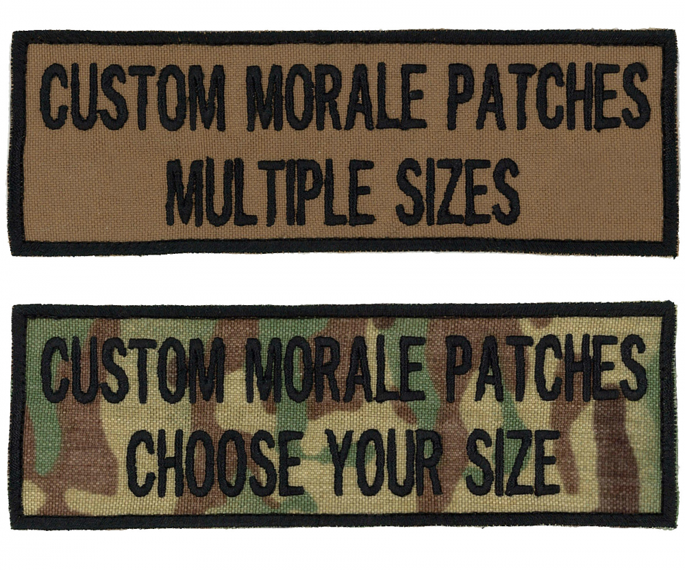 2 Line Morale Patch MULTIPLE sizes