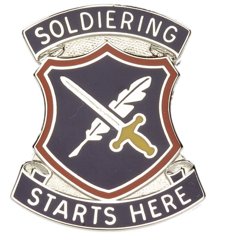 soldiering starts here Buy 95th adjutant general battalion unit crest (soldiering starts here): accessories - amazoncom free delivery possible on eligible purchases.