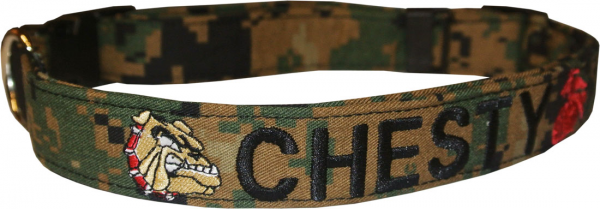 Customize Embroidered Personalized Deluxe Dog Collars