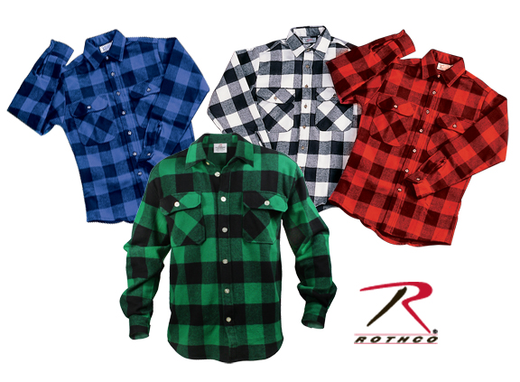 Extra Heavyweight Plaid  Flannel Shirt