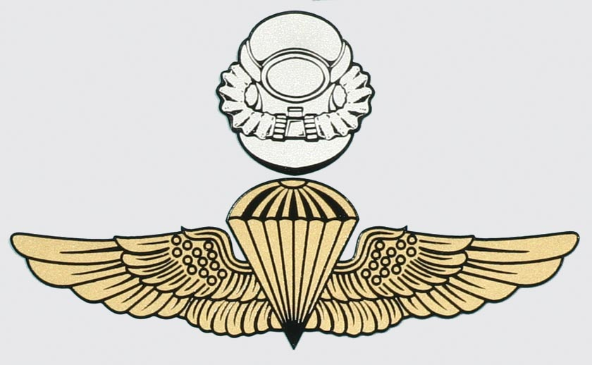 force recon scuba wings decal   northern safari army navy